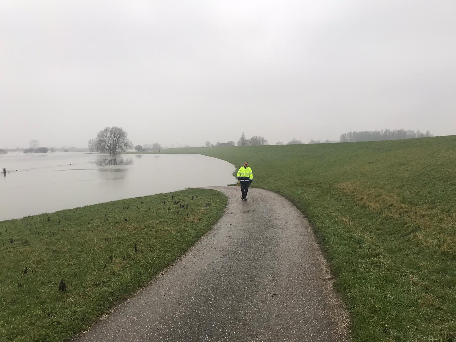 Uiterwaarden langs IJssel lopen langzaam vol