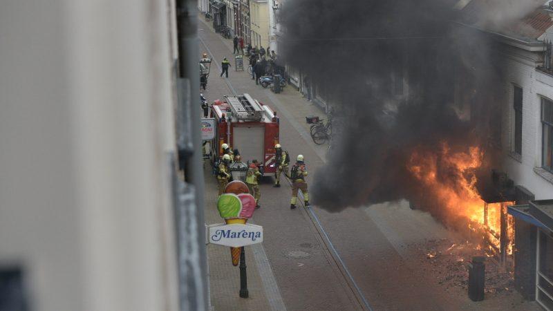 Grote brand in Kamper binnenstad