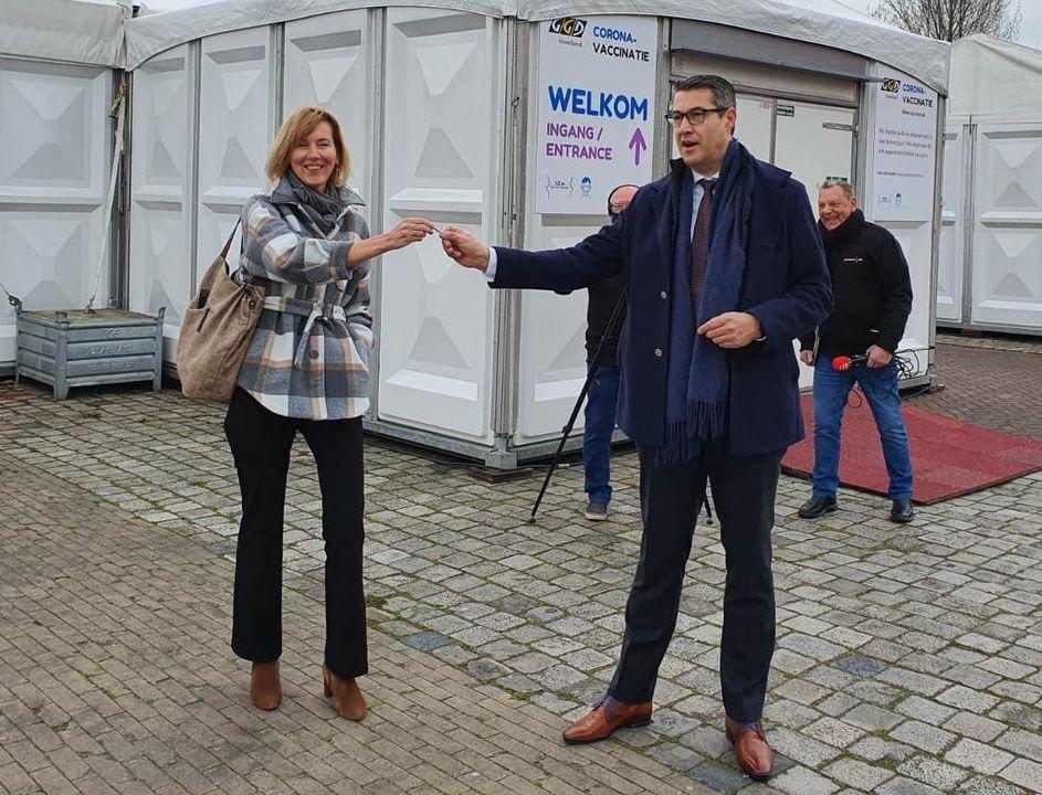 GGD-vaccinatielocatie in Kampen geopend en klaar voor gebruik