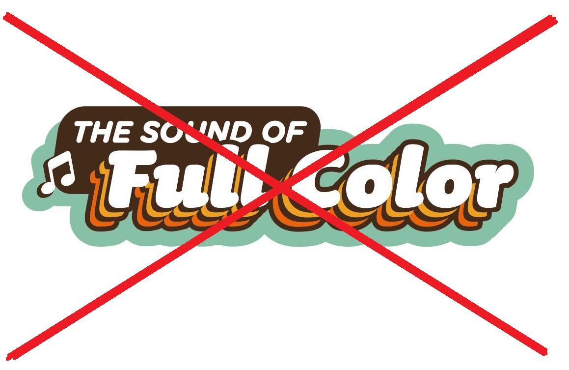 Definitief streep door The Sound of Full Color