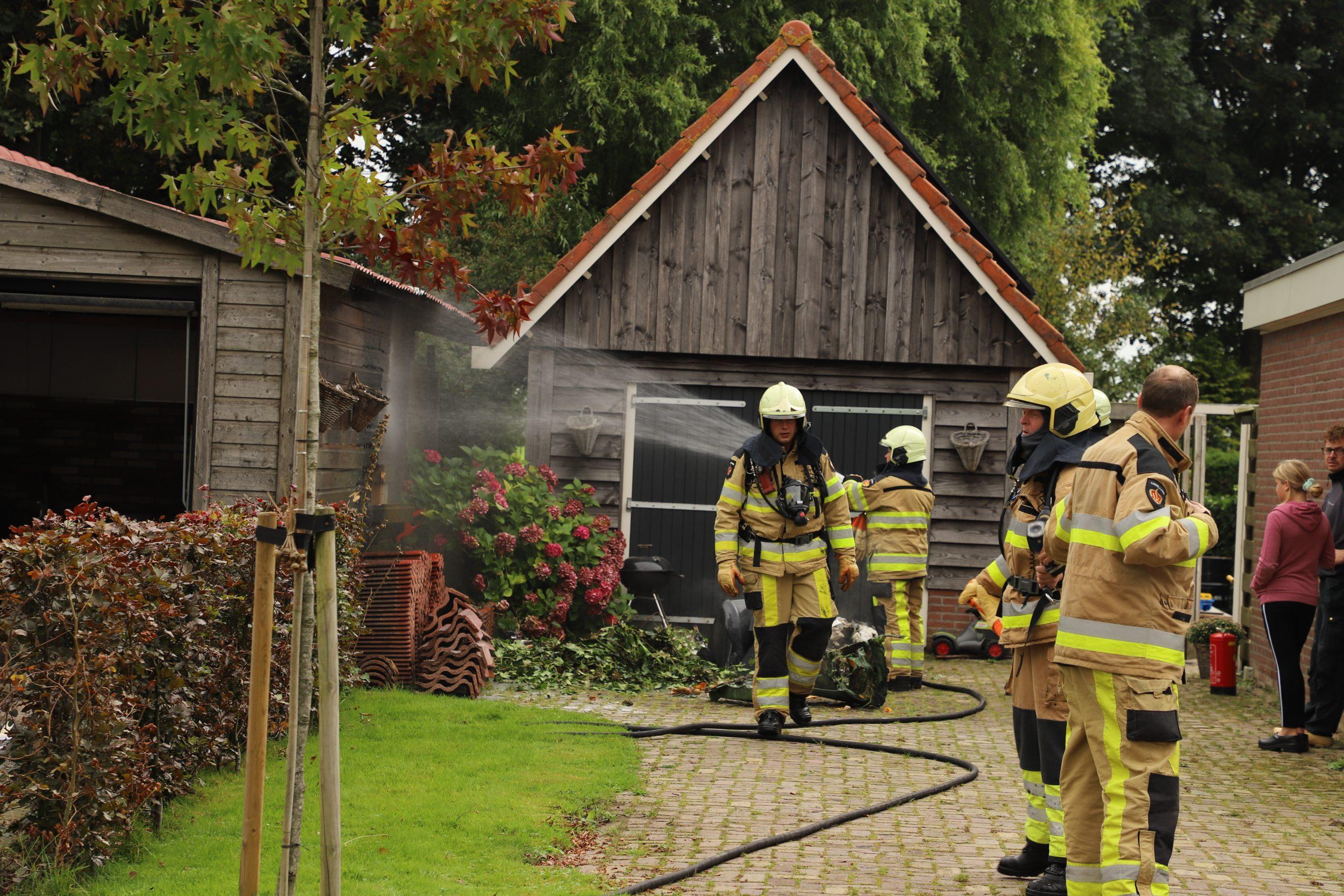 Brandweer rukt uit voor containerbrand