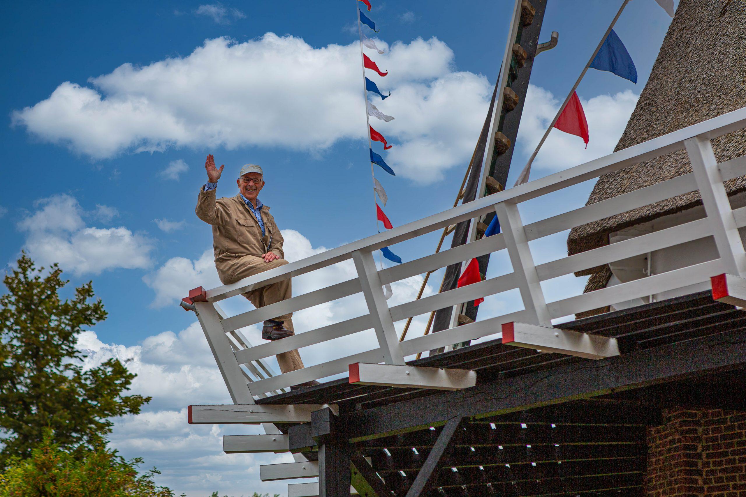 Gerrit Boom 40 jaar molenaar bij molen De Valk in Zalk